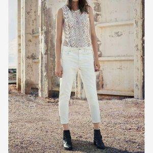 AllSaints Jasper Denim Jeans Cropped Ankle Zip